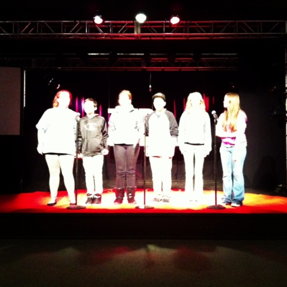 Gettin' free on stage at TEDxYouth@DesMoines!