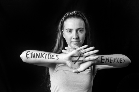"Susan ""Ethnicities do not equal enemies."""