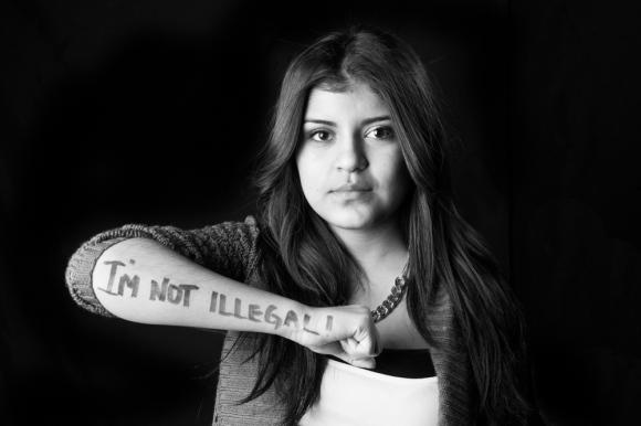 """Leslie """"I'm not illegal."""""""